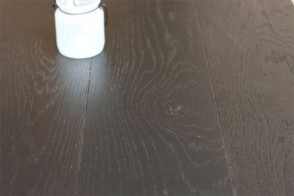 Natural Engineered Flooring Oak Click Jet Black Brushed UV Lacquered 14/3mm By 190mm By 1860mm