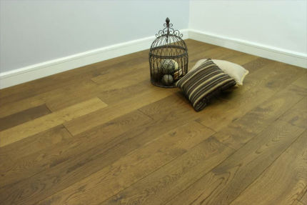 Natural Engineered Flooring Oak Smoked Brushed UV Oiled 20/5mm By 180mm By 1900mm
