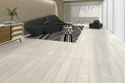 North Light Snow White Oak Laminate Flooring 8mm By 193mm By 1380mm