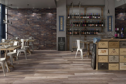 Porcelain Stoneware Madeira Brown 200mm By 1200mm