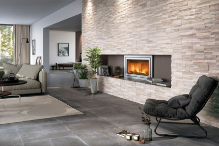 Porcelain Stoneware Wall Art White 150mm By 610mm