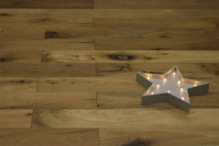 Rustic Engineered Flooring Oak Vintage Smoked Brushed UV Oiled Crack 10/3mm By 125mm By 600-1900mm
