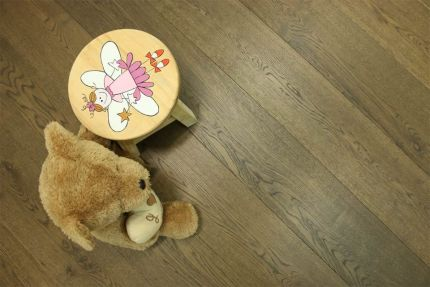 Select Engineered Flooring Oak Click Coffee Brushed UV Oiled 14/3mm By 190mm By 1860mm