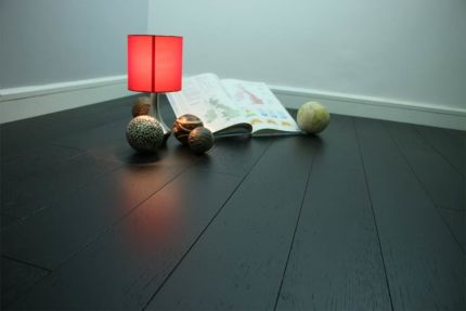 Select Engineered Flooring Oak Click Jet Black Brushed UV Lacquered 14/3mm By 189mm By 1860mm
