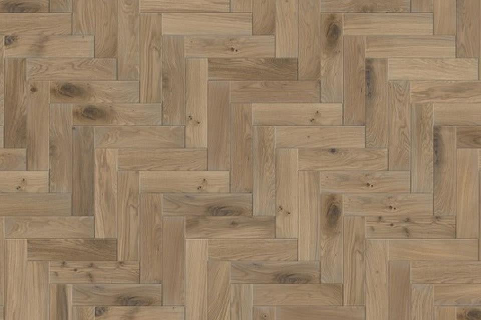 Natural Solid Flooring Oak Herringbone Titanium Grey Brushed Oiled 18mm By 70mm 280mm