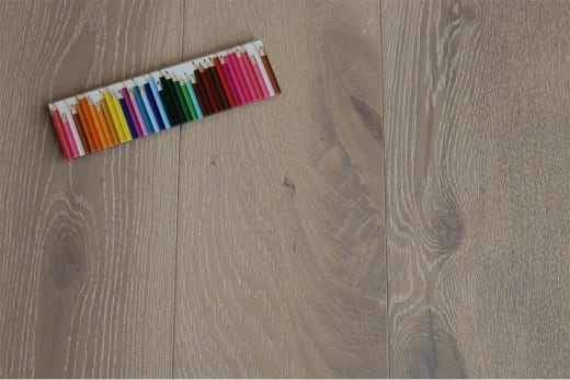 Natural Engineered Flooring Oak Click Sunny White Brushed UV Oiled 14/3mm By 190mm By 1900mm