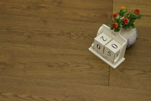 Natural Engineered Flooring Oak Smoked Brushed UV Oiled 15/4mm By 190mm By 1900mm