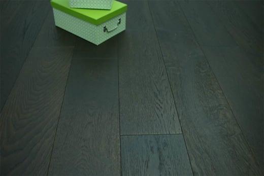 Natural Engineered Flooring Oak Black Tea Brushed UV Oiled 14/3mm By 190mm By 2200mm