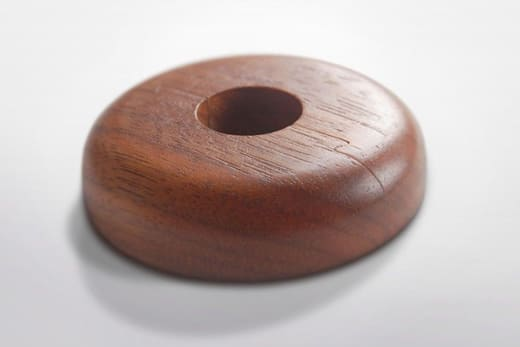 Solid Hardwood Walnut Pipe Cover Varnished