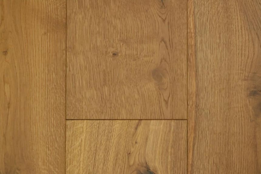 Natural Engineered Flooring Oak Light Smoked Brushed UV Oiled 14/3mm By 190mm By 1900mm