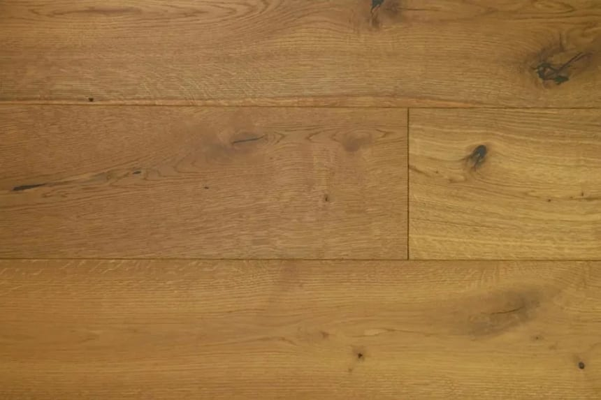 Natural Engineered Flooring Oak Dark Smoked Brushed UV Oiled 14/3mm By 240mm By 2200mm