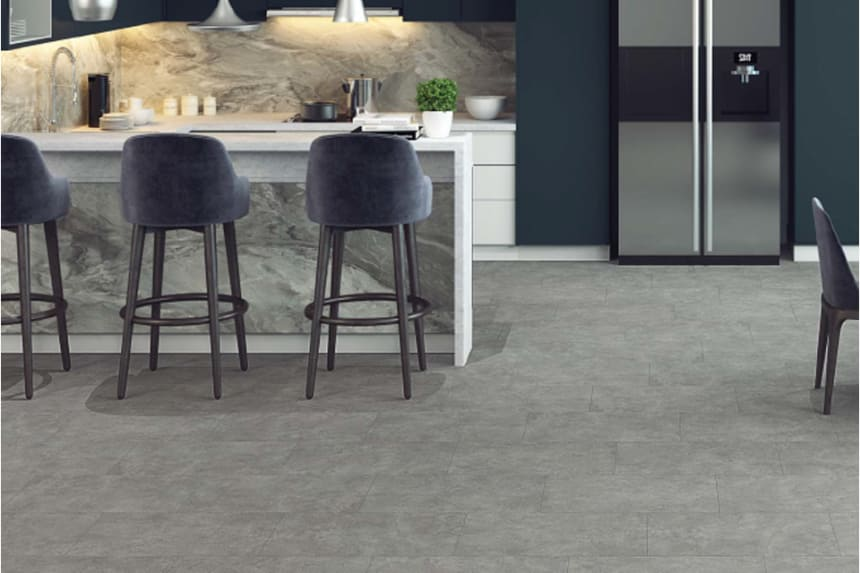 Gri Beteon Stone Dark Grey Laminate Flooring 8mm By 402mm By 1206mm