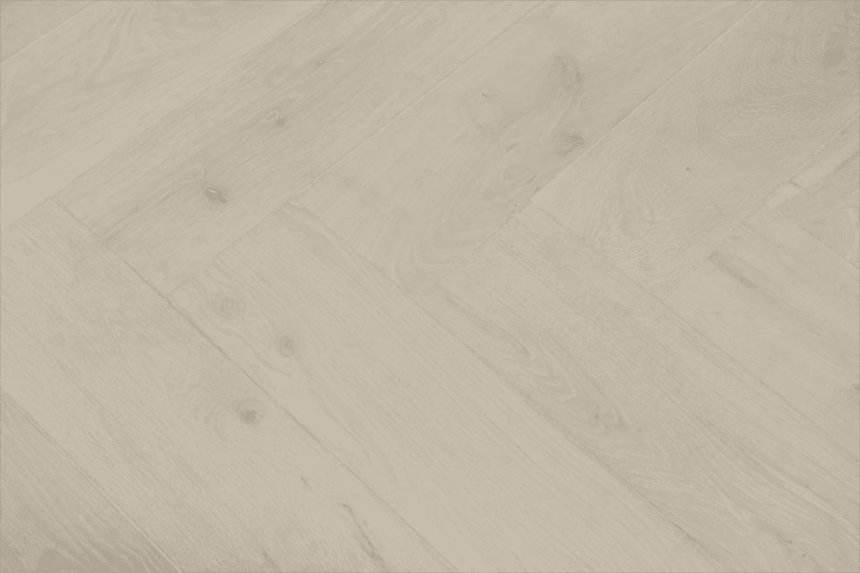 Natural Engineered Flooring Oak Herringbone Bianco Hardwax Oiled 16/4mm By 140mm By 580mm