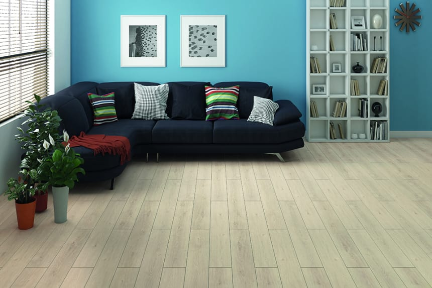 Light Moon Oak Laminate Flooring 8mm By 195mm By 1380mm