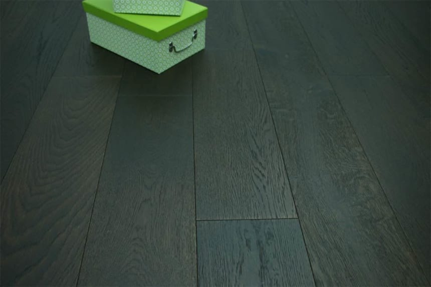 Natural Engineered Flooring Oak Black Tea Brushed UV Oiled 14/3mm By 190mm By 2200mm