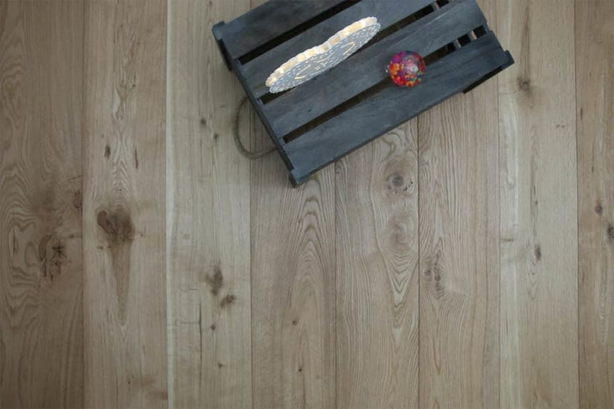 Natural Engineered Flooring Oak Brushed UV Oiled 14/3mm By 90mm By 1900mm