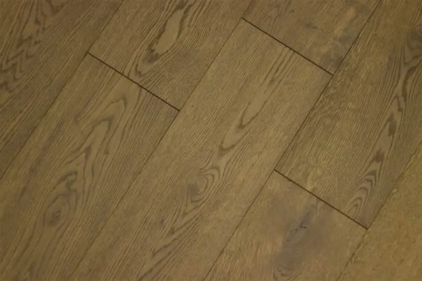 Natural Engineered Flooring Oak Click VIP Smoked Brushed UV Oiled 14/3mm By 190mm By 1900mm
