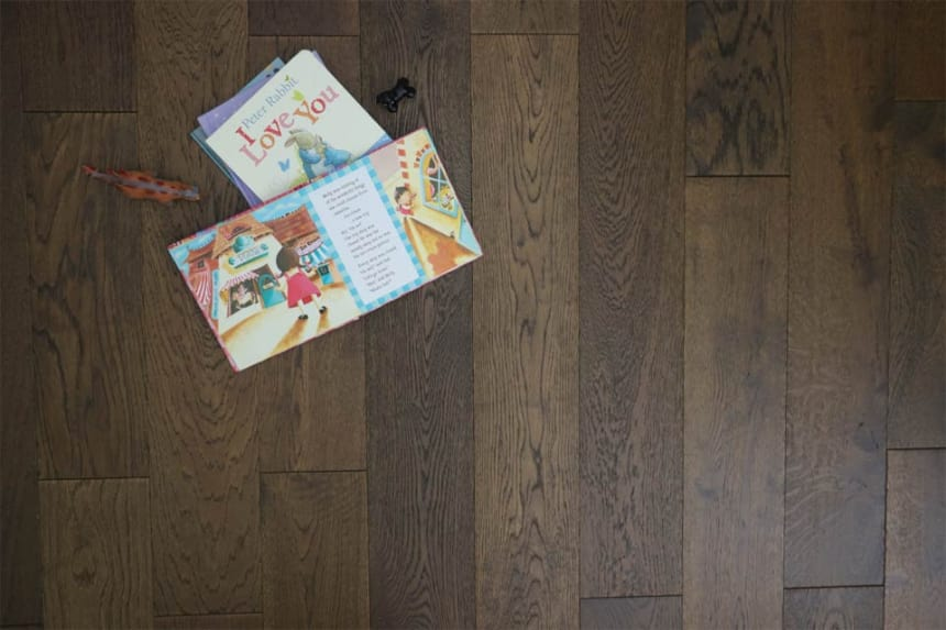 Natural Engineered Flooring Oak Coffee Brushed UV Oiled 20/5mm By 180mm By 1900mm