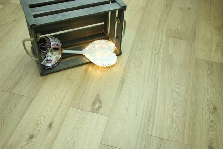Natural Engineered Flooring Oak UV Lacquered 14/3mm By 240mm By 1300-2300mm