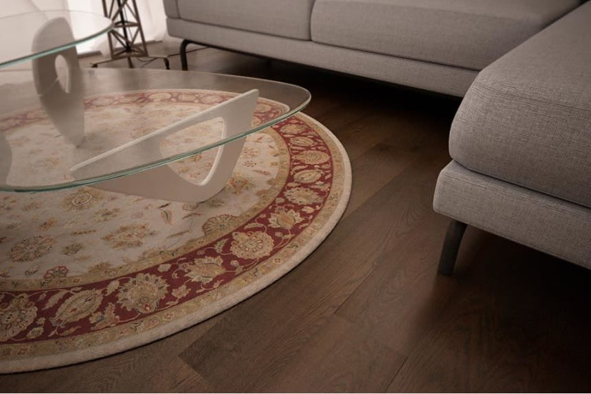 Natural Engineered Flooring Oak Vintage Coffee Brushed UV Oiled 15/4mm By 240mm By 1300-2300mm