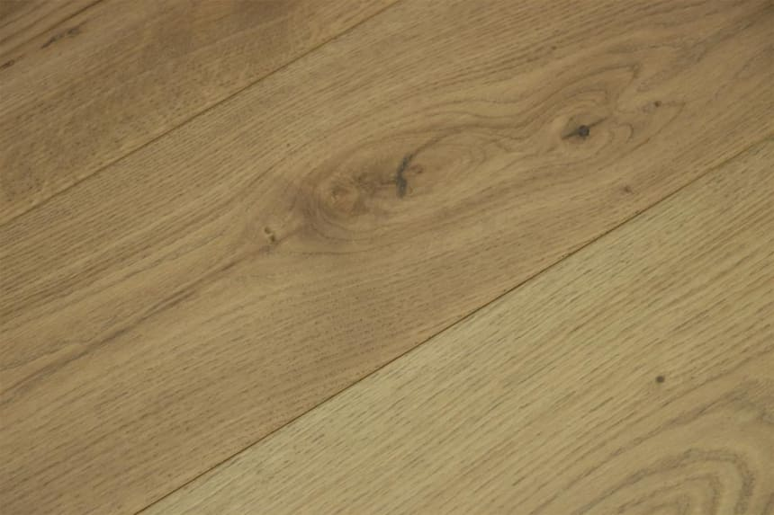 Natural Solid Flooring Oak Pisa Light Brushed UV Oiled 20mm By 160mm By 500-2200mm