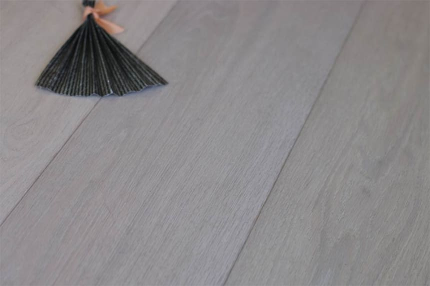 Prime Engineered Flooring Oak Click Polar White Brushed UV Lacquered 14/3mm By 195mm By 2200mm