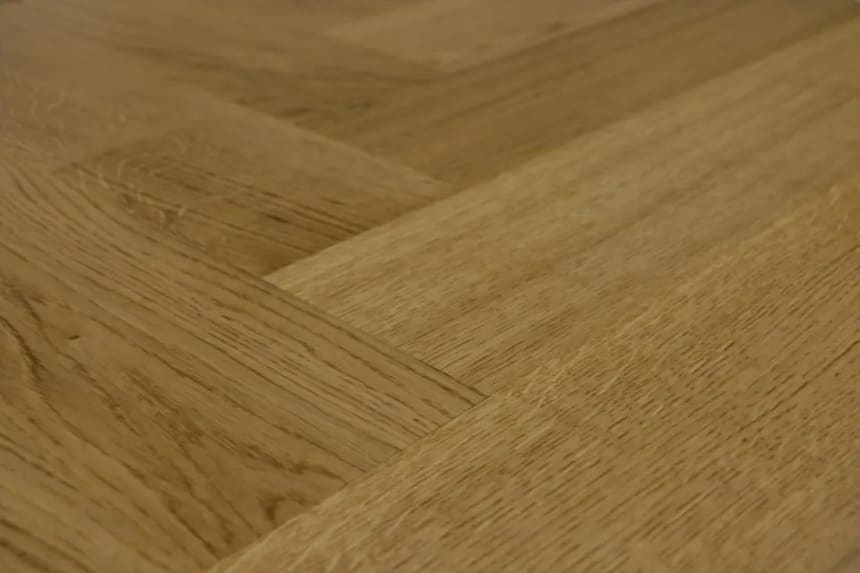 Prime Engineered Flooring Oak Herringbone Smoked Colour Brushed UV Semi Matt Lacquered 14/3mm By 98mm By 588mm