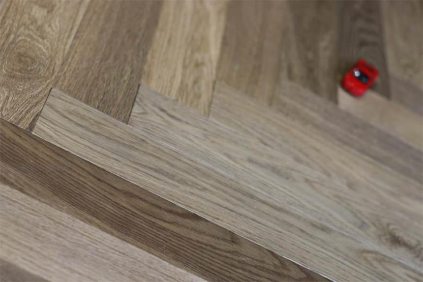 Prime Engineered Oak Herringbone Dark Smoked Brushed UV Oiled 15/4mm By 90mm By 600mm