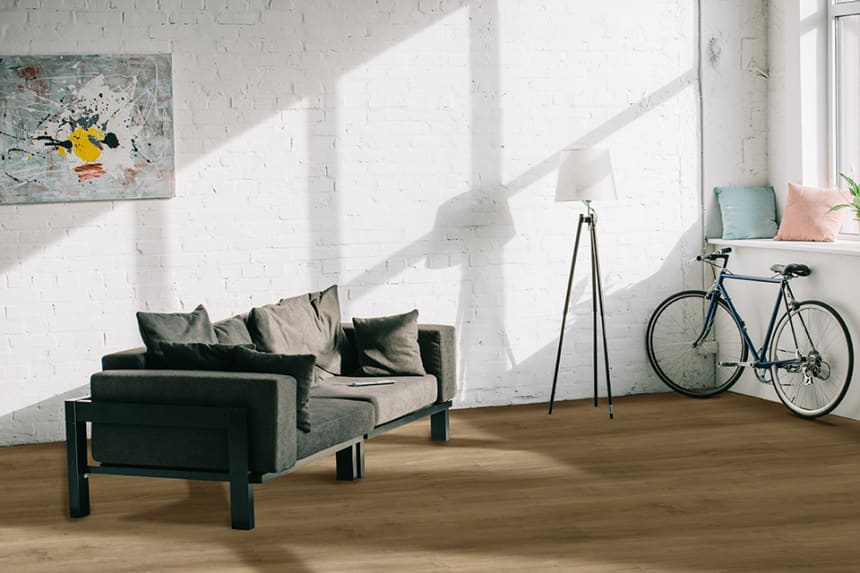 Luxury Click Vinyl Flooring Sunny Brown 5mm By 169mm By 1210mm