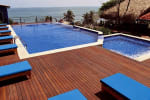 Red Balau Hardwood Decking Reeded Boards Using Hidden Fixing 19mm By 140mm By 3353-3658mm