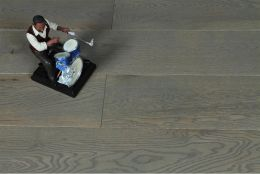 Natural Engineered Flooring Oak Sahara Grey Brushed UV Lacquered 14/3mm By 150mm By 400-1500mm
