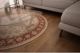 Natural Engineered Oak Smoked Brushed Uv Oiled 20/5mm By 220mm By 2200mm