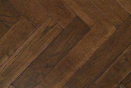 Natural Engineered Flooring Oak Herringbone Dark Cacao Brushed UV Oiled 15/4mm By 90mm By 630mm
