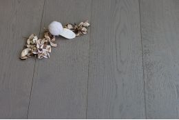 Select Engineered Oak Sahara Grey Brushed UV Lacquered 14/3mm By 190mm By 1900mm