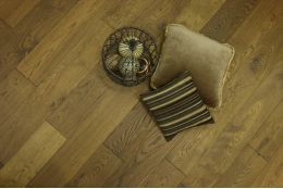 Select Engineered Oak Smoked Brushed Uv Oiled 15/4mm By 190mm By 1900mm