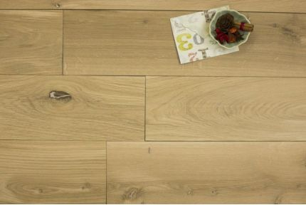 Engineered Natural Oak Brushed Unfinished 20/6mm By 192mm By 2350mm