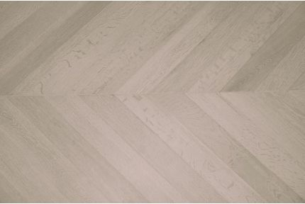 Prime Engineered Oak Chevron Sunny White Brushed UV Oiled 15/4mm By 90mm By 610mm
