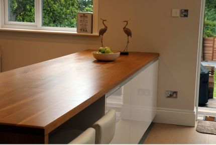 Full Stave Premium Oak Worktop 34mm By 620mm By 1950mm