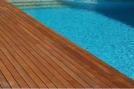 Iroko Hardwood Decking Boards Using Hidden Fixing 21mm By 95mm By 3200-3600mm