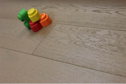 Prime Engineered Oak UK Grey UV Oiled 14/3mm By 150mm By 400-1500mm