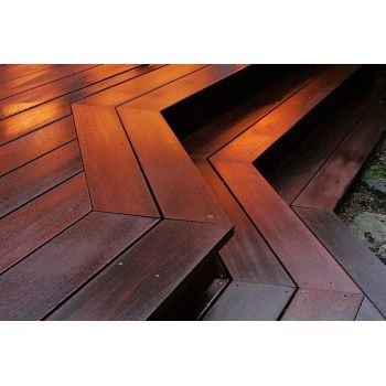Red Balau Hardwood Decking Boards 19mm By 140mm By 3359-3658mm