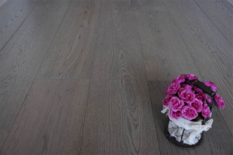 Select Engineered Oak Sahara Grey Brushed UV Lacquered 14/2.5mm By 189mm By 1860mm