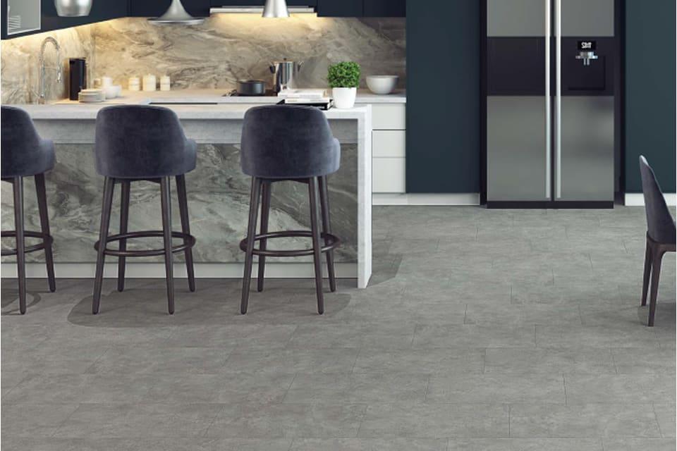 Gri Beteon Stone Dark Grey Laminate Flooring 8mm By 402mm By 1206mm
