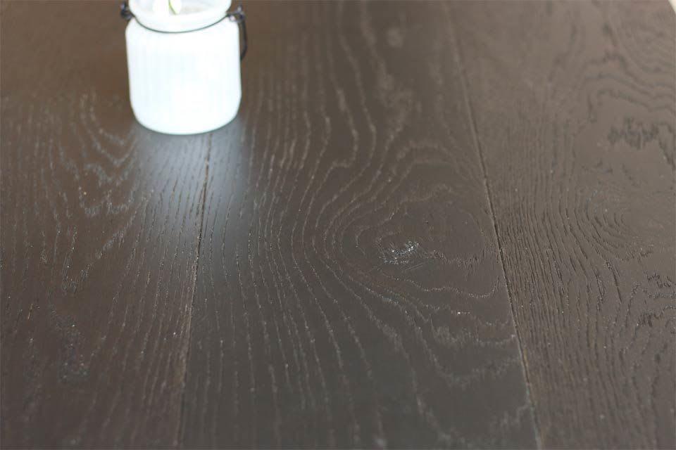 Natural Engineered Flooring Oak Click Jet Black Brushed Uv