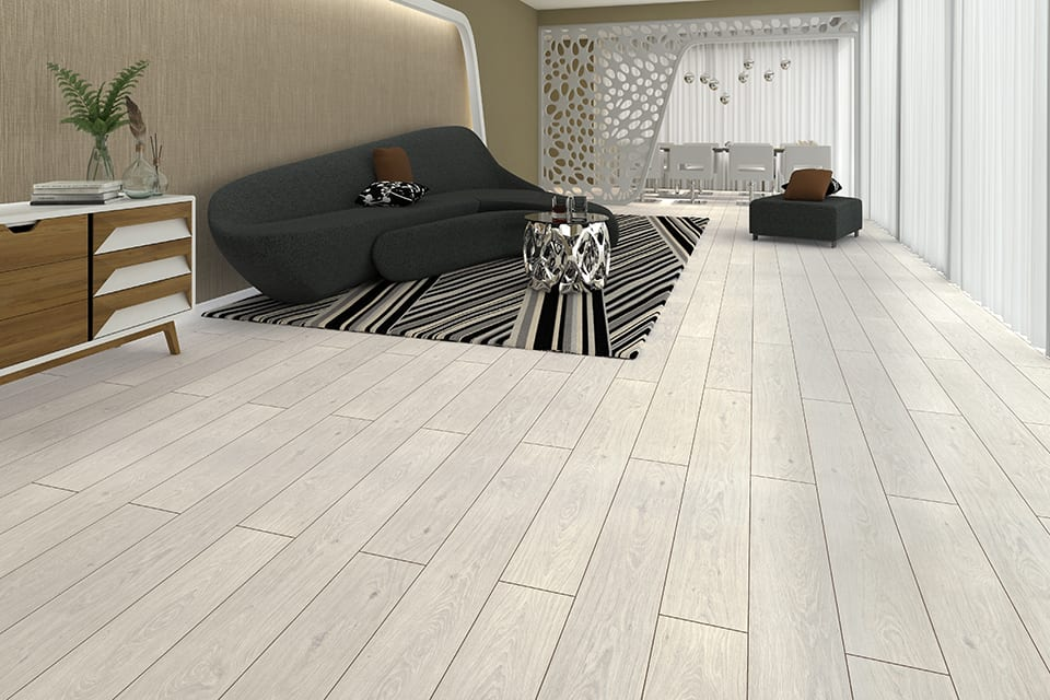 North Light Snow White Oak Laminate Flooring 8mm By 193mm