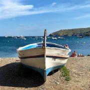 Spain cadaques beach boat