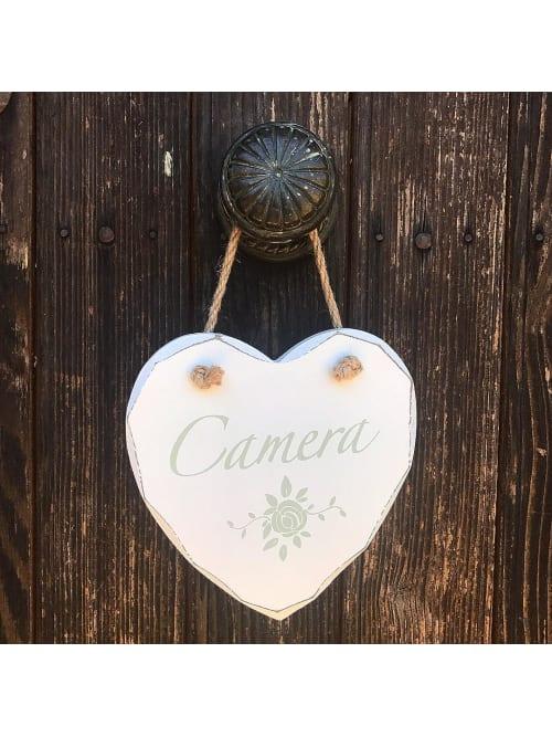 Angelica Home & Country targhetta cuore Camera