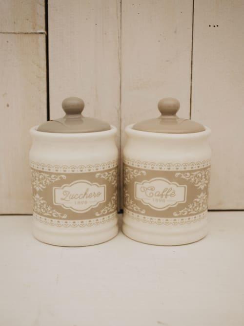 Set barattoli per caffè e zucchero, in ceramica