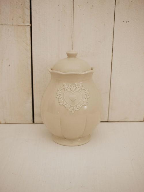 Barattolo in ceramica in stile Shabby Chic cm.12 x 20h. - Disraeli