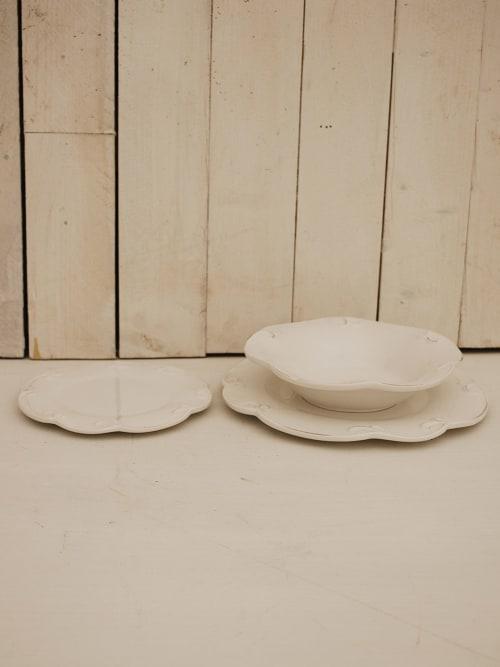 Servizio tre piatti bianchi - Disraeli